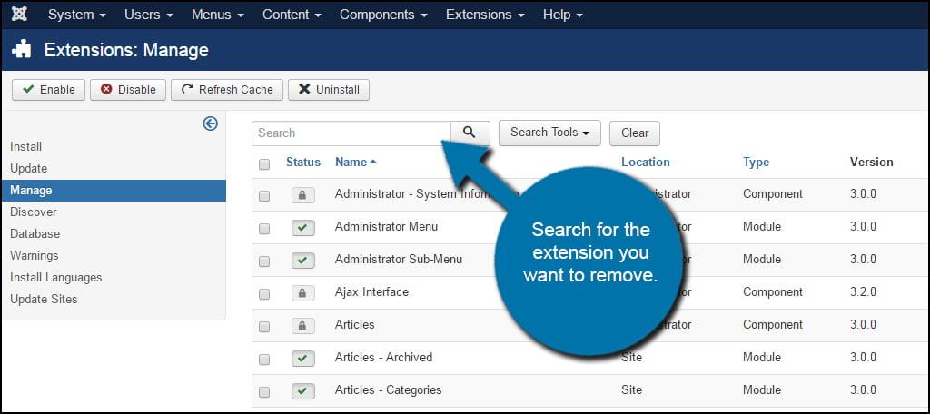 Joomla Extension Search