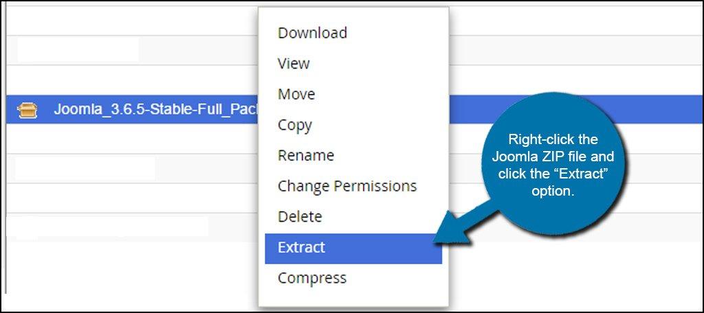 Joomla Extract