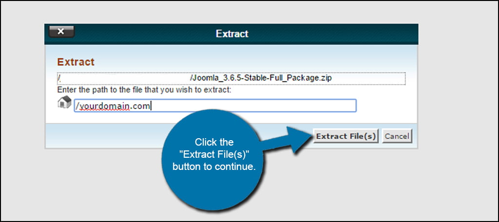 Joomla Extract Files