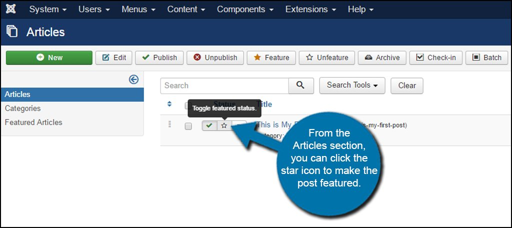 Joomla Featured Star