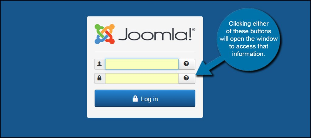 Joomla Forgot Password