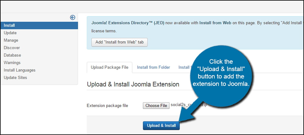 Joomla Install Extension