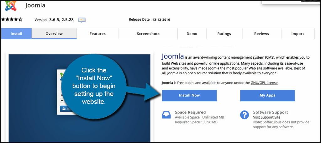 Joomla Install Now