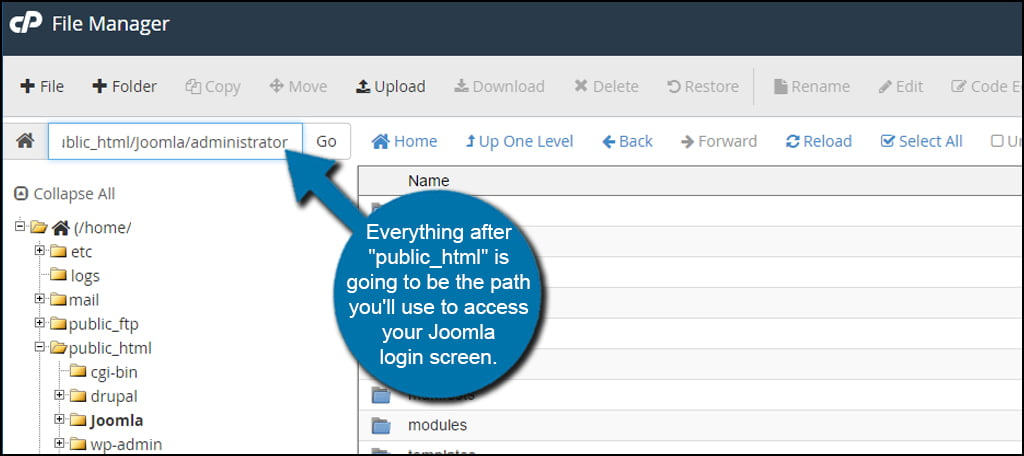 Joomla Login Path