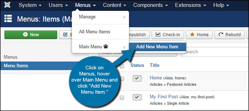 Joomla New Category Menu