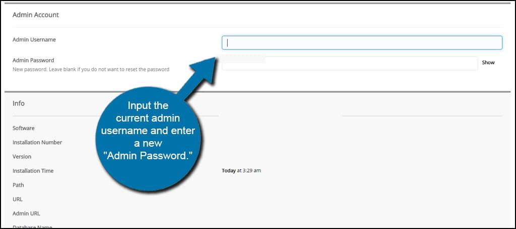 Softaculous Change Admin Password