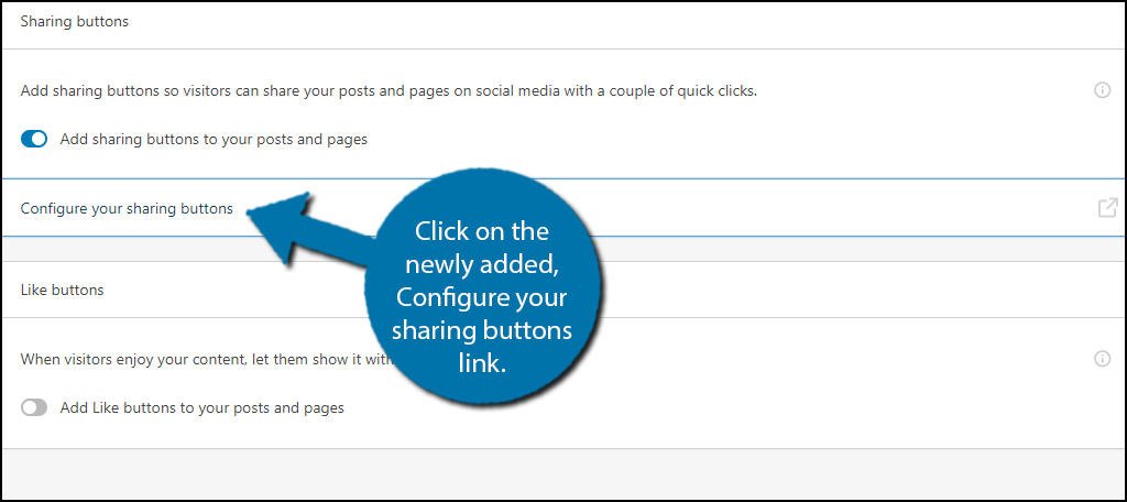 Configure Sharing Buttons