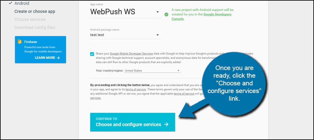 Configure Google Services