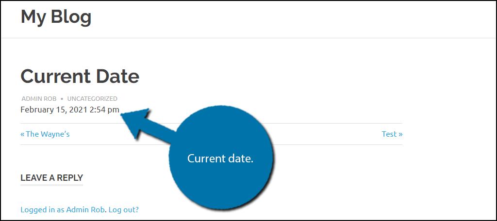 Current Date