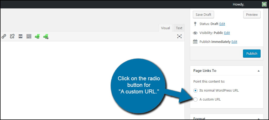 Custom URL Radio Button