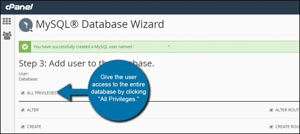 Database All Privileges