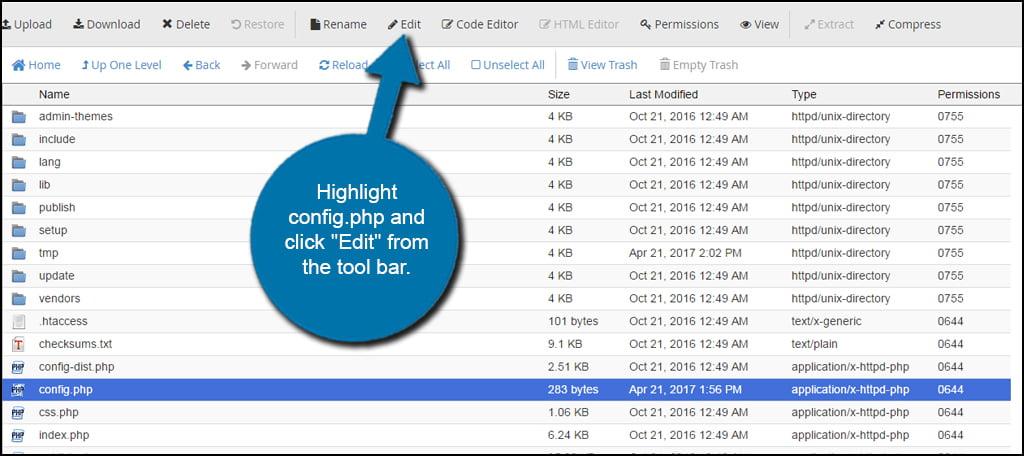 Edit Config File