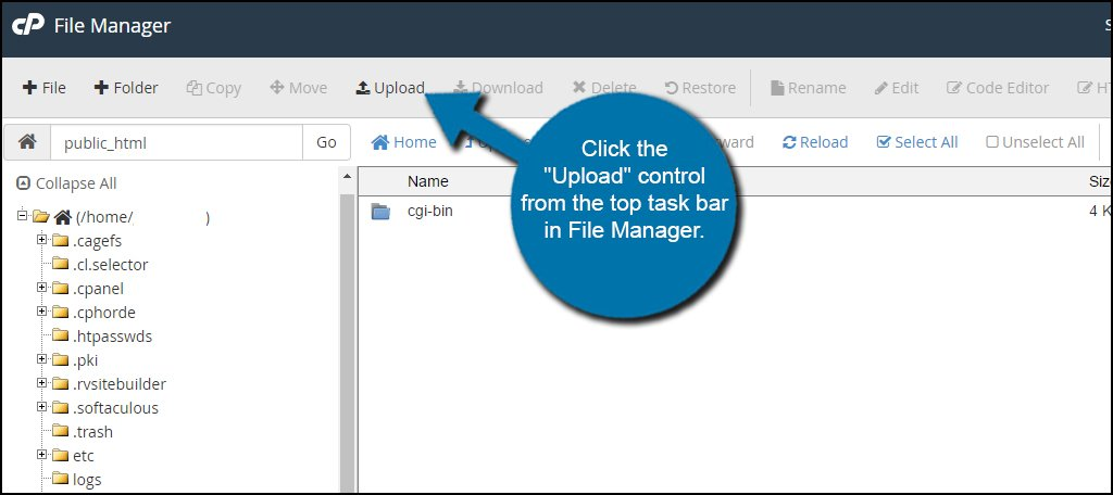 File Manager Upload