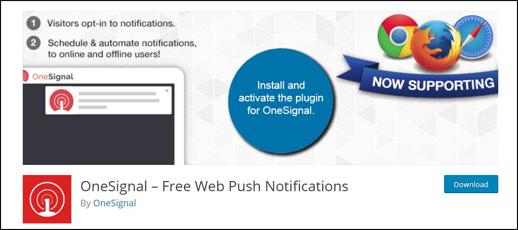 Install And Activate OneSignal