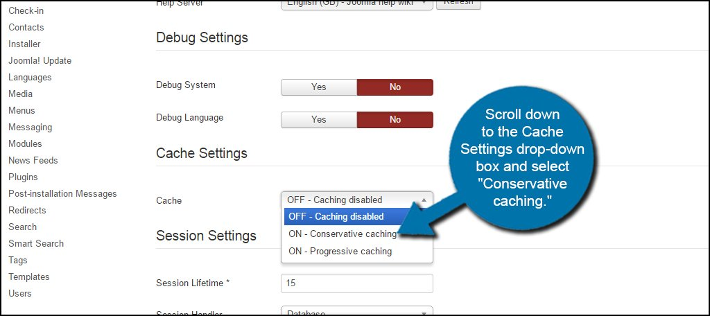 Joomla Conservative Caching