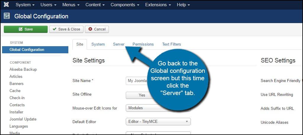 Joomla Global Server