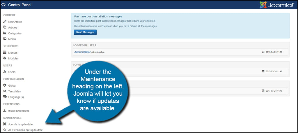 Joomla Updates