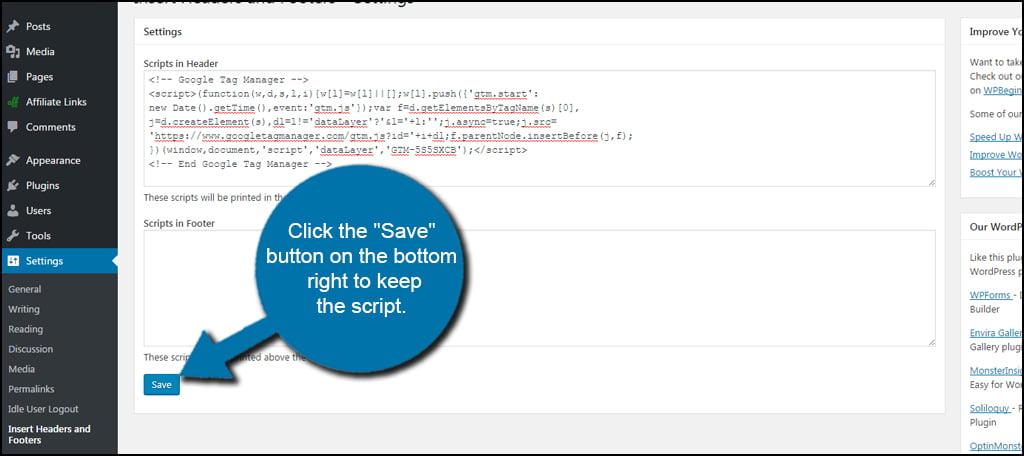 Save Google Script