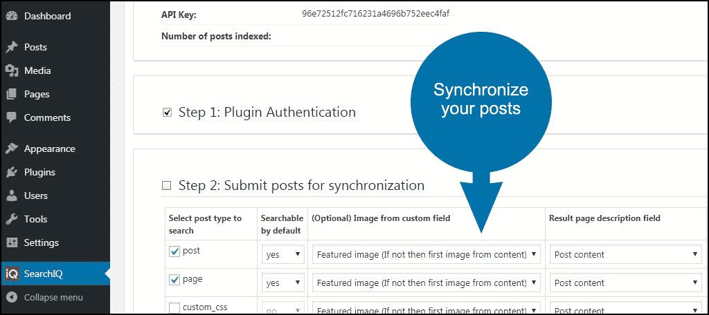 synchronize posts