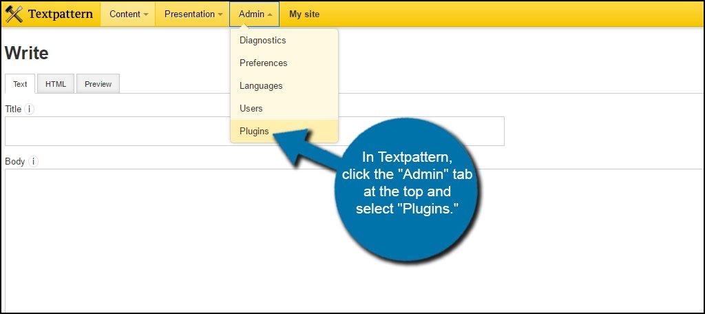 Textpattern Admin Plugins