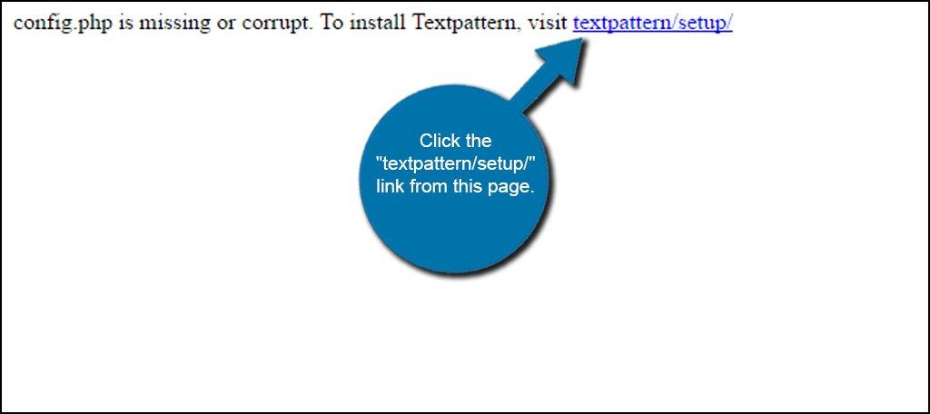Textpattern Setup
