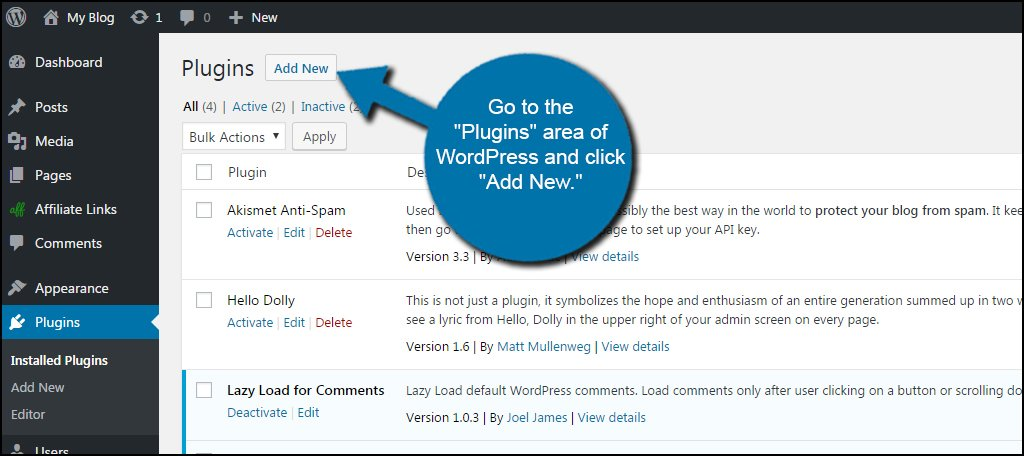 WordPress Add New Plugin