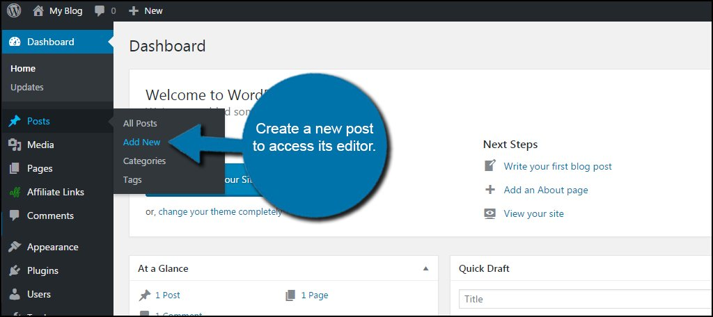 WordPress New Post
