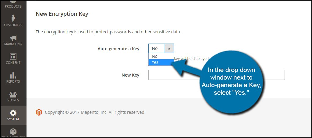 Auto-Generate Encryption Key