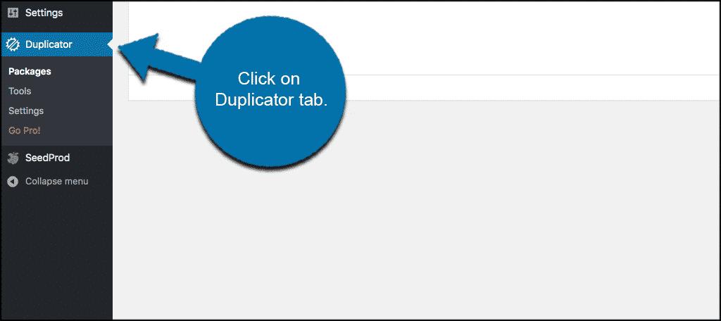 Click duplicator tab