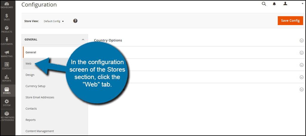Click Web Tab