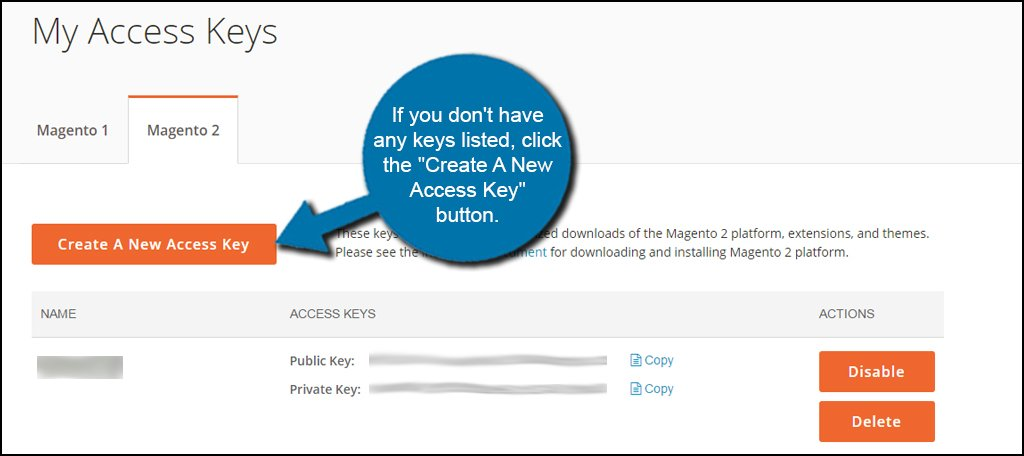 Create Access Key