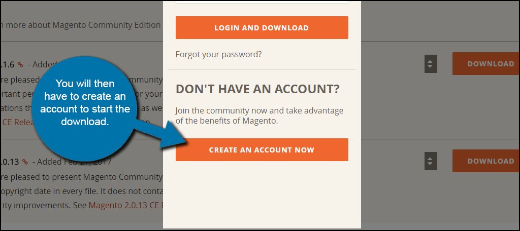 Create Magento Account