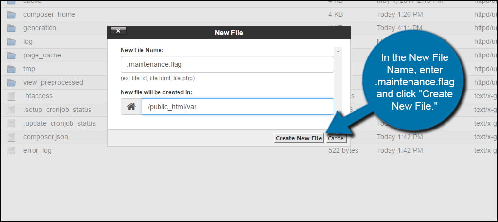Create New Flag File
