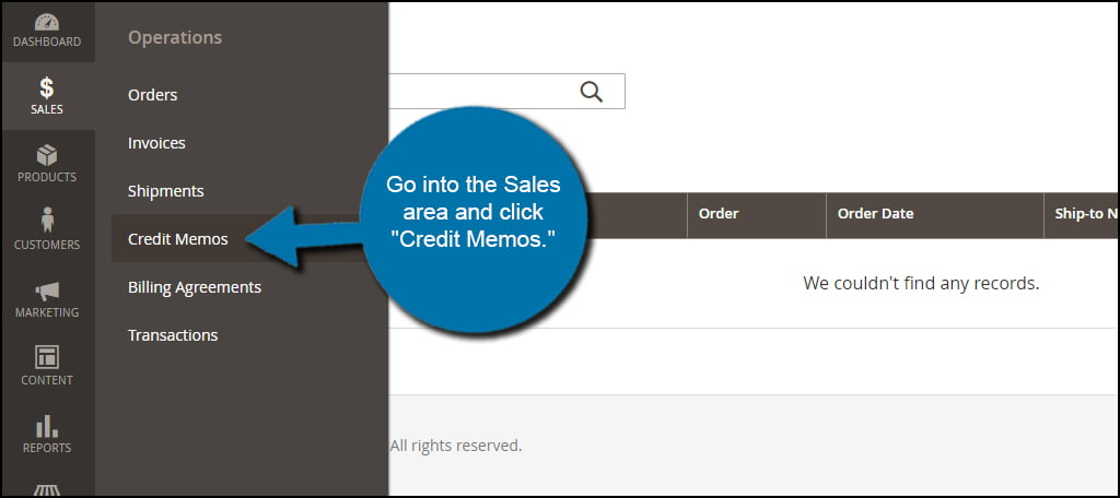 Magento Credit Memos