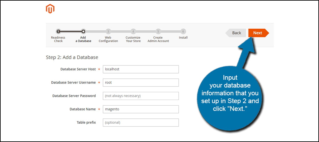 Magento Database Setup