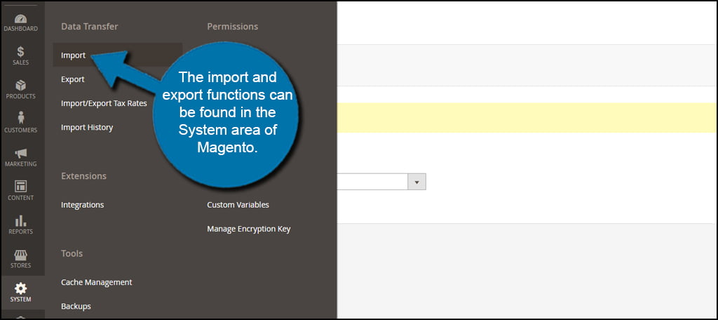 Magento Import And Export