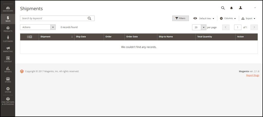 Magento Shipment Information