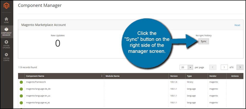 Manager Sync