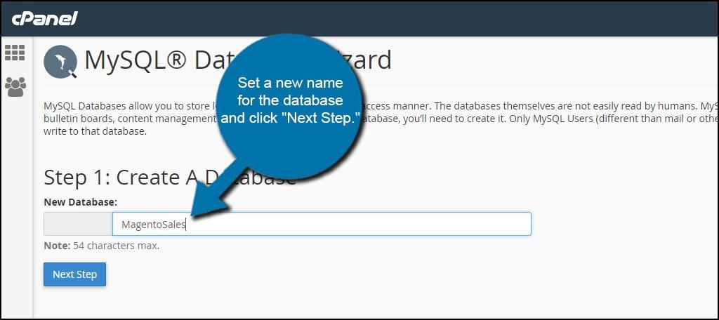 Name Magento Database