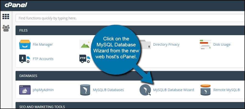 New Database Wizard