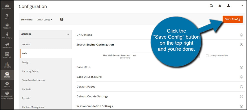 Save SEO Config