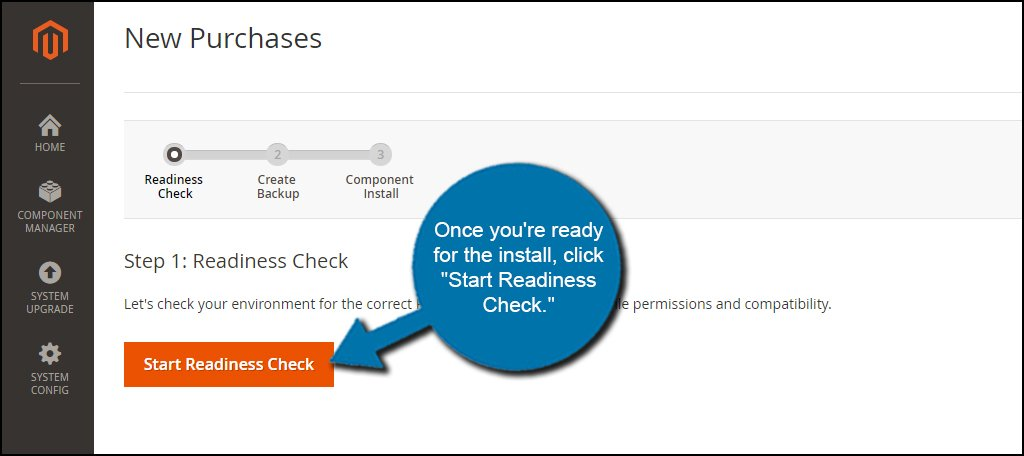 Start Readiness Check
