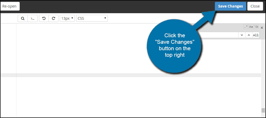 Save Style CSS Changes