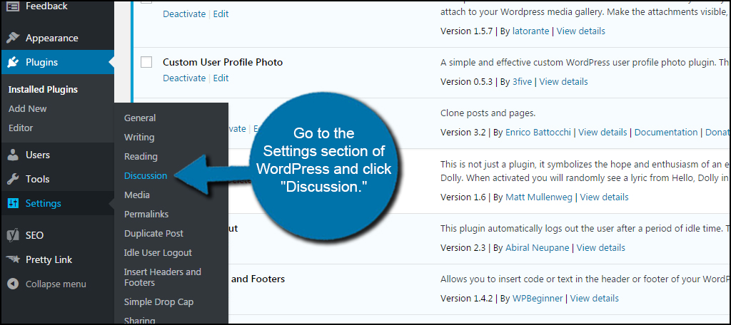 Settings Discussion