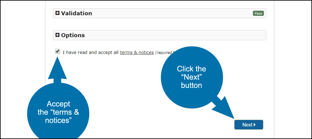 """click the """"Next"""" button"""