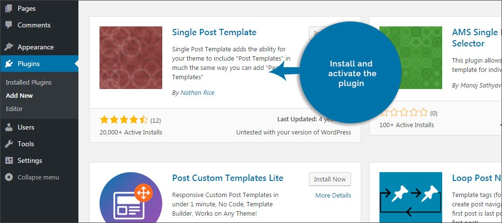 How to create a template for a single post in wordpress greengeeks install and activate single post template maxwellsz