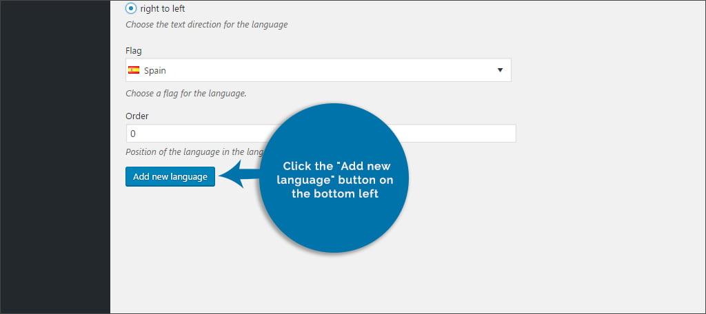 Click Add New Language