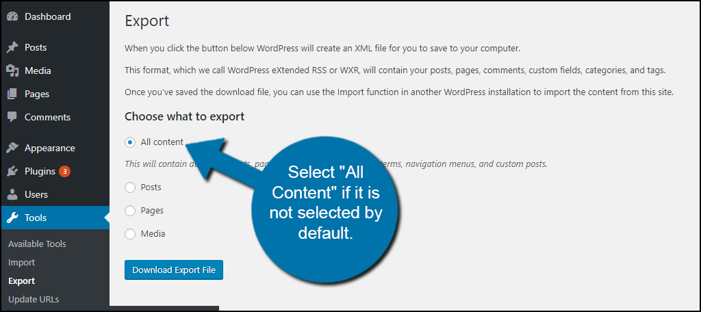 Select All Content