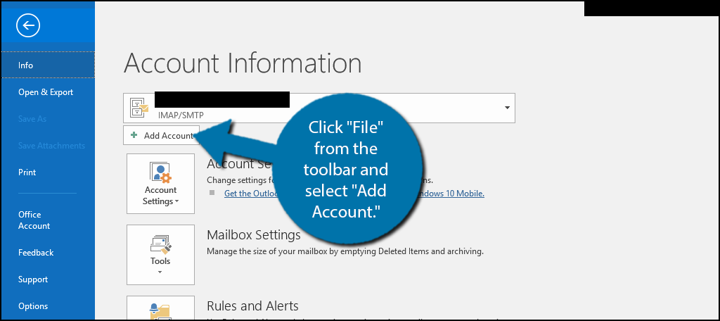 How to Set up Email Accounts in Microsoft Outlook - GreenGeeks