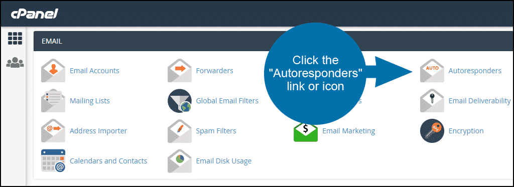 creating email autoresponders in cPanel, step 1